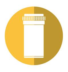 medical bottle pills pharmacy shadow vector image vector image