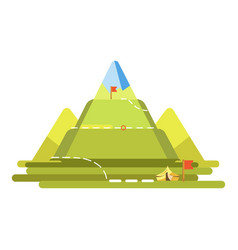 mountain climbing route vector image vector image