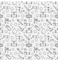 Plumbing minimal pattern vector image vector image