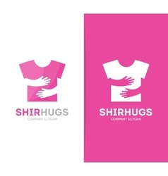 shirt and hands logo combination Wear and vector image vector image