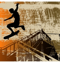 skateboy grunge vector image vector image
