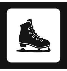Skating icon in simple style vector image