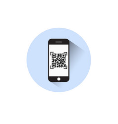 smart phone scanning qr code icon barcode scan vector image