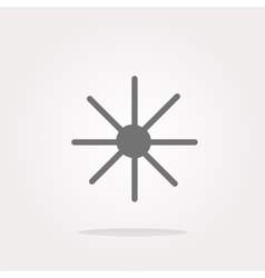 Sun icon on round button collection vector image vector image