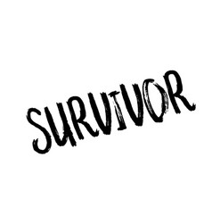 survivor rubber stamp vector image vector image