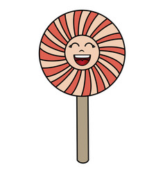 sweet lollipop kawaii character vector image