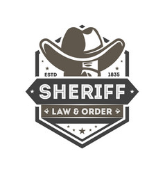 wild west sheriff vintage isolated label vector image vector image