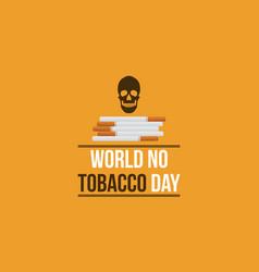 world no tobacco day background flat vector image vector image
