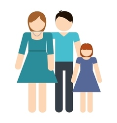 Parents and daughter icon avatar family design vector