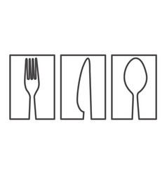 Figure symbol cutlery food icon vector