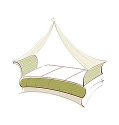 icon bed vector image