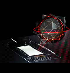 Abstract techno scene vector