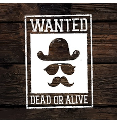 Wanted poster on wooden wall vector