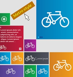 Bike icon sign buttons modern interface website vector