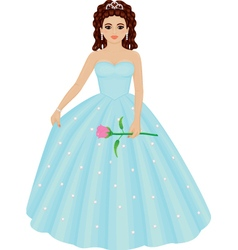 Quinceanera girl vector