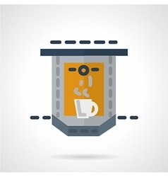 Flat icon for coffee making vector