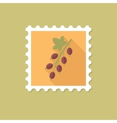 Currant flat stamp with long shadow vector