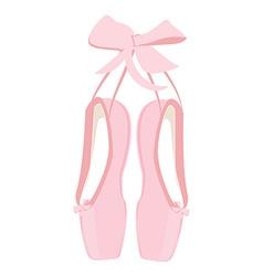 Pink ballet pointe vector image