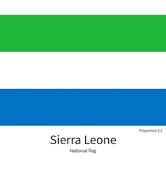 National flag of sierra leone with correct vector
