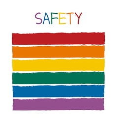 Safety color tone without name vector