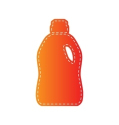 Plastic bottle for cleaning orange applique vector