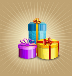 a gift boxes vector image