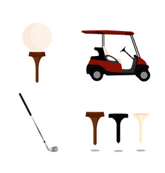 abstract golf object vector image