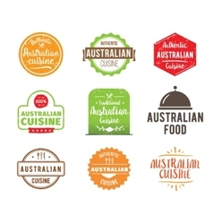 Australian cuisine label vector