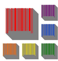 bar code sign set of red orange yellow green vector image