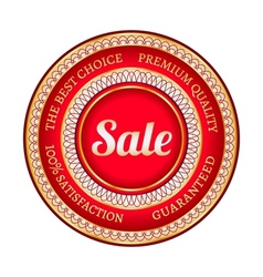 Big red sale label vector image