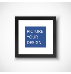 Black frame on the wall for your design vector image