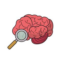 brain search idea discovery vector image