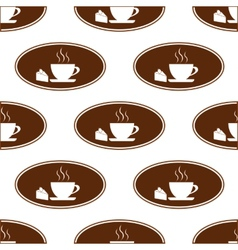 Cake and cup pattern vector image