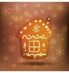 Christmas gingerbread house vector image vector image