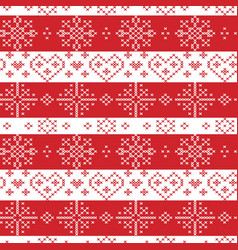 Christmas seamless pattern with stars snowflake vector image