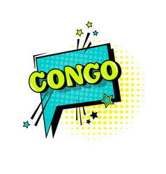 Comic speech chat bubble pop art style congo vector