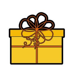 cute christmas gift cartoon vector image