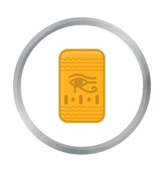 Eye of horus icon in cartoon style isolated on vector
