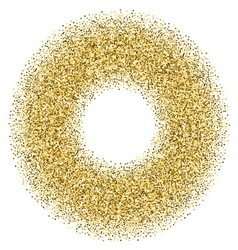 Golden confetti frame vector image vector image