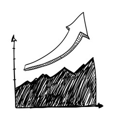 graphic stats doodle vector image