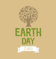 happy earth day postcard vector image vector image