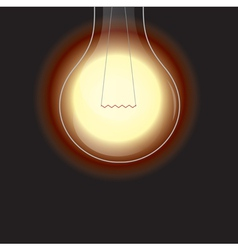 light bulb is lighting vector image vector image