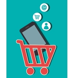 mobile advertising design vector image