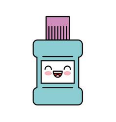 Mouthwash bottle kawaii character vector