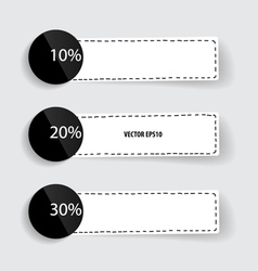 Note paper modern infographics banners vector image vector image