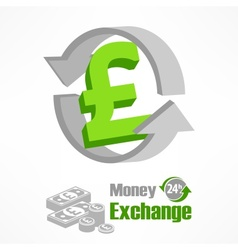 Pound symbol in green vector image vector image