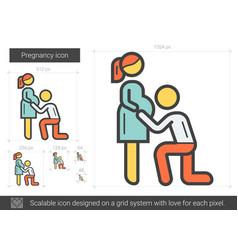 Pregnancy line icon vector