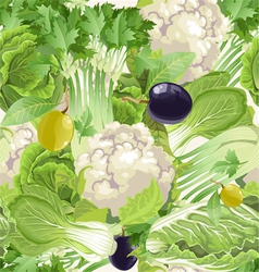 seamless pattern of green vegetables celery vector image vector image
