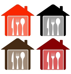 Set home with utensil vector