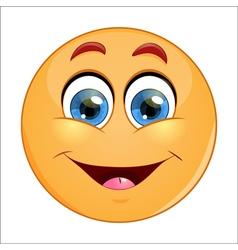 Smiling emoticon vector image vector image